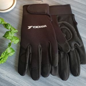New yokohama black racing gloves
